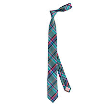 Buy Thomas Pink Grinstead Check Silk Tie, Teal/Pink Online at johnlewis.com