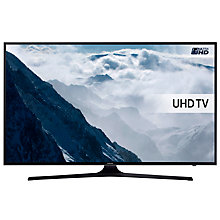 "Buy Samsung UE55KU6000 HDR 4K Ultra HD Smart TV, 55"" with Freeview HD, Playstation Now +  Wireless Sound Bar & Subwoofer, Black Online at johnlewis.com"