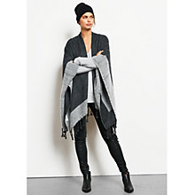 Buy hush Two Tone Blanket Shawl, Dark Charcoal/Marl/Ecru Online at johnlewis.com