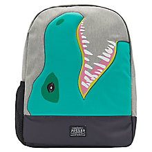 Buy Joules Dinosaur Children's Rucksack, Blue/Green Online at johnlewis.com