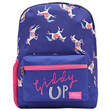 Buy Joules Carousel Children's Rucksack, Blue/Pink Online at johnlewis.com
