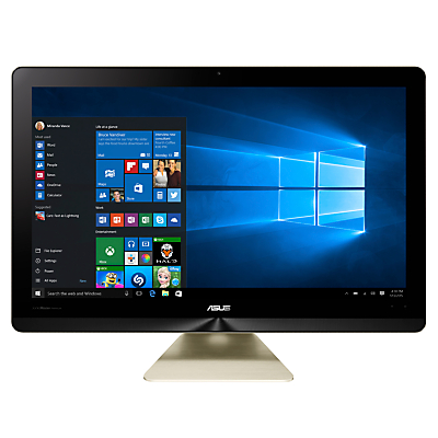 "ASUS Zen Z240 All-in-One Pro Desktop PC, Intel Core i7, 32GB RAM, 1TB HDD + 512GB SSD, 23.8"" Ultra HD (4K) Touch Screen, Icicle Gold"
