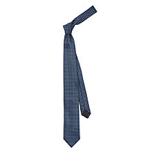 Buy HUGO by Hugo Boss Big Dots Silk Tie, Navy Online at johnlewis.com