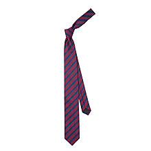Buy HUGO by Hugo Boss Dotted Stripe Silk Tie Online at johnlewis.com