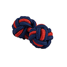 Buy Thomas Pink Classic Two-Tone Cuff Knots, Navy/Red Online at johnlewis.com