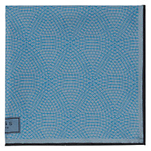 Buy Reiss Bolt Patterned Silk Pocket Square, Airforce Blue Online at johnlewis.com