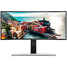 "Buy Samsung  LS34E790C Curved 21:9 Ultra-Wide Quad HD LED Monitor with built-in speakers, 34"", Black Online at johnlewis.com"