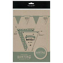 Buy East of India Birthday Bunting Kit Online at johnlewis.com