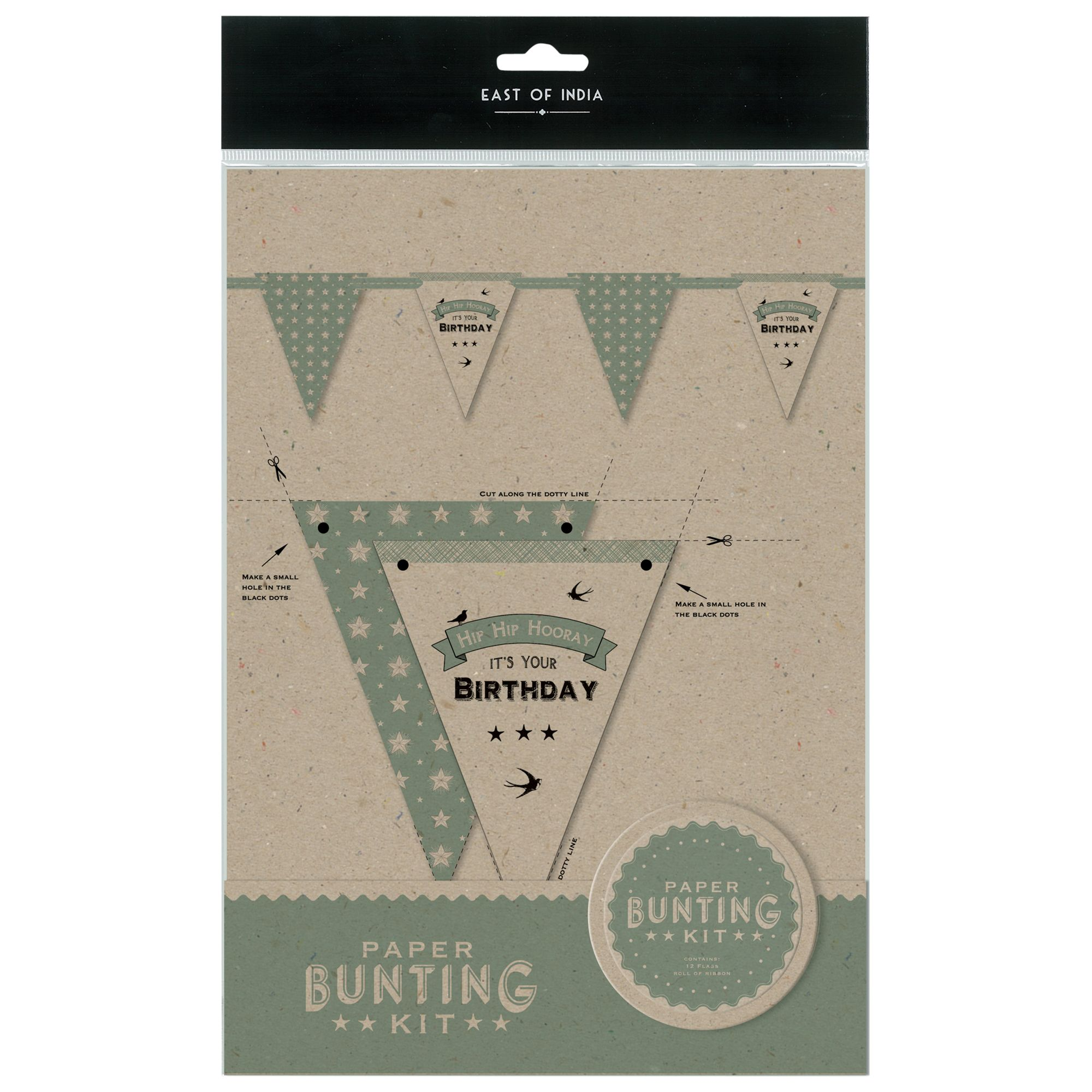 East of India East of India Birthday Bunting Kit