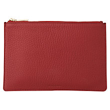 Buy Whistles Bubble Leather Small Clutch Bag, Dark Red Online at johnlewis.com