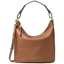Buy MICHAEL Michael Kors Lupita Large Leather Hobo Bag, Luggage Online at johnlewis.com