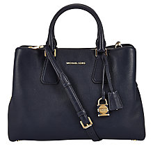 Buy MICHAEL Michael Kors Camille Large Leather Satchel Online at johnlewis.com