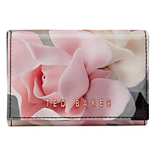 Buy Ted Baker Rommi Porcelain Rose Leather Coin Purse, Black Online at johnlewis.com