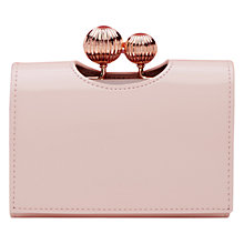 Buy Ted Baker Sondra Small Leather Purse, Pale Pink Online at johnlewis.com