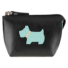 Buy Radley Heritage Dog Small Leather Coin Purse, Black Online at johnlewis.com