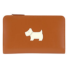 Buy Radley Heritage Dog Leather Medium Zip Purse, Tan Online at johnlewis.com