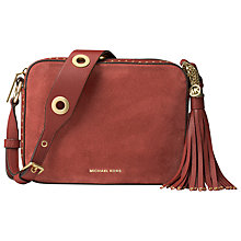 Buy MICHAEL Michael Kors Brooklyn Large Suede Camera Bag Online at johnlewis.com