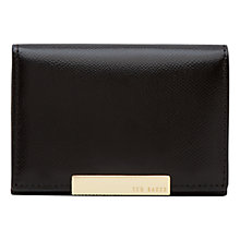 Buy Ted Baker Marged Leather Coin Purse, Black Online at johnlewis.com