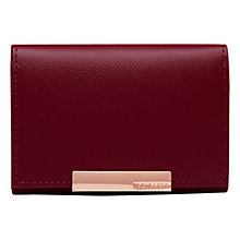 Buy Ted Baker Marged Leather Coin Purse, Grape Online at johnlewis.com