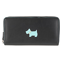 Buy Radley Heritage Dog Zip Leather Matinee Purse, Black Online at johnlewis.com