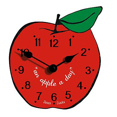 Image of Jones Apple Clock, Red