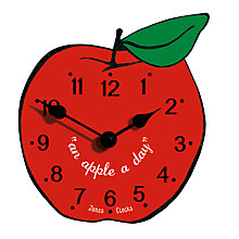 Buy Jones Apple Clock, Red Online at johnlewis.com