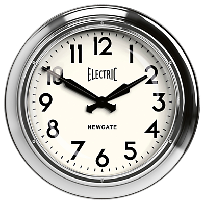 Image of Newgate Giant Electric Wall Clock, Silver