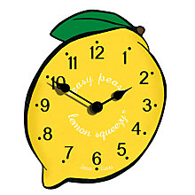 Buy Jones Lemon Clock, Yellow Online at johnlewis.com