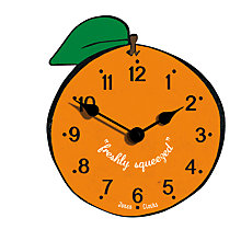 Buy Jones Orange Clock, Dia. 17cm Online at johnlewis.com
