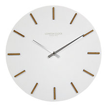 Buy London Clock Company Oslo Wall Clock, White, Dia.35cm Online at johnlewis.com