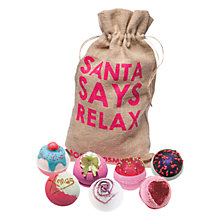 Buy Bomb Cosmetics Santa Says Relax Bath Blaster Set Online at johnlewis.com