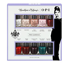 Buy OPI Breakfast At Tiffany's The Classics 10 Mini Nail Lacquer Pack Online at johnlewis.com