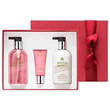 Buy Molton Brown Delicious Rhubarb & Rose Hand Care Gift Set Online at johnlewis.com