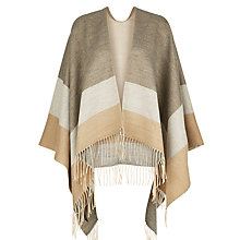 Buy Hobbs Joanna Stripe Wrap, Grey/Camel Online at johnlewis.com