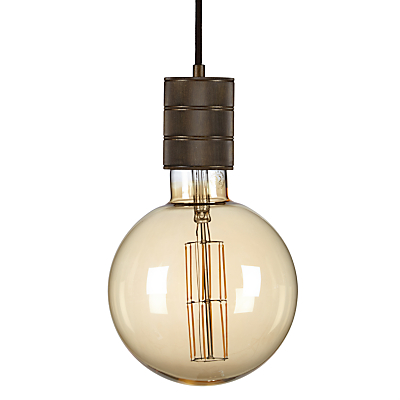 Calex XXL LED Filament Globe Bulb and Pendant Set, Clear/Gold