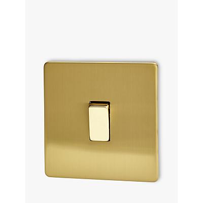 Image of Varilight 1 Gang 2-Way Rocker Switch, Brushed Brass