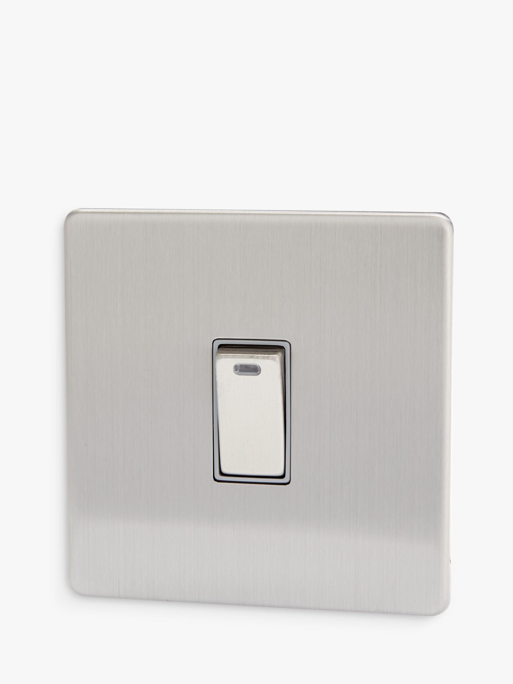 Varilight Varilight 1 Gang Double Pole Rocker Switch with Neon Indicator Light