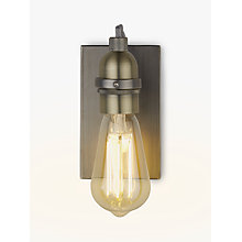 Buy John Lewis Bistro Bulb Wall Light, Antique Brass Online at johnlewis.com