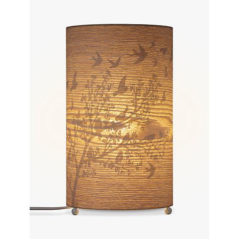 buy john lewis flock birds wood veneer table lamp john lewis. Black Bedroom Furniture Sets. Home Design Ideas