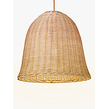 Buy John Lewis Croft Collection Stanley Rattan Small Easy-to-Fit Ceiling Light, Brown/Natural Online at johnlewis.com
