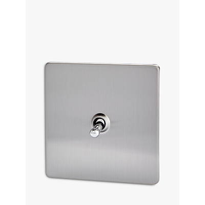 Image of Varilight 1 Gang 2-Way Toggle Switch, Brushed Steel