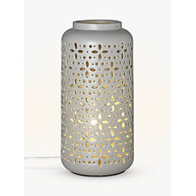 Buy John Lewis Bella Large Ceramic Lantern Table Lamp, Grey Online at johnlewis.com