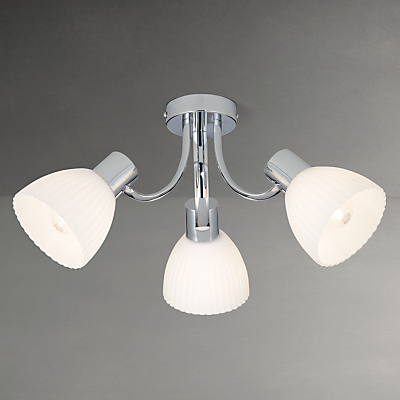 John Lewis Bishop Ceiling Light, 3 Arm, Chrome