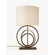 Buy John Lewis Ainsley Sculptured Rings Lamp Base, Antique Brass Online at johnlewis.com