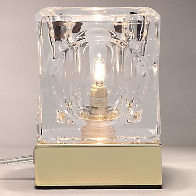 John Lewis Cuboid Table Lamp, Brass