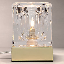 Buy John Lewis Cuboid Table Lamp, Brass Online at johnlewis.com