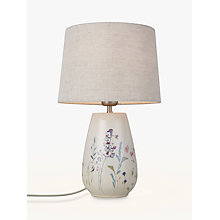 Buy John Lewis Longstock Print Crackle Table Lamp Online at johnlewis.com