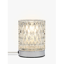 Buy John Lewis Donatella Touch Table Lamp, Clear Online at johnlewis.com