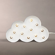 Buy John Lewis LED Cloud Sign Light, White Online at johnlewis.com