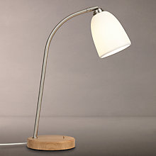 Buy John Lewis Fitcham Porcelain and Oak Task Lamp, White Online at johnlewis.com